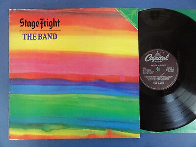THE BAND  STAGE FRIGHT Capital UK LP VG+/EX-