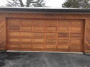 Cedar garage door  7x16 Feet