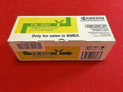 Original Kyocera Toner Kit TK-550Y Yellow Gelb  FS-C5200DN   OVP mit Rechnung - Original Gelb Toner Kit