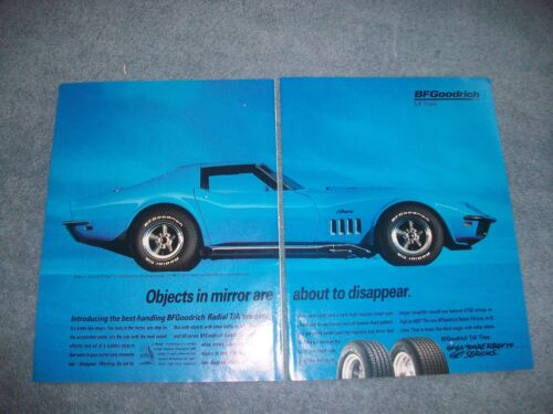 1994 BFGoodrich Tires Vintage 2pg Ad with 1969 Corvette Coupe