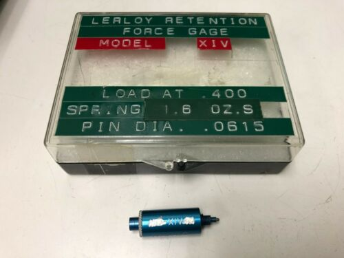 Lerloy XIV Connector Contact Retention Force Gage, .400 Load, 0.0615 Pin