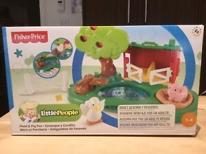 New! Little People Pond & Pig Pen / Neuf! Mare et Porcherie