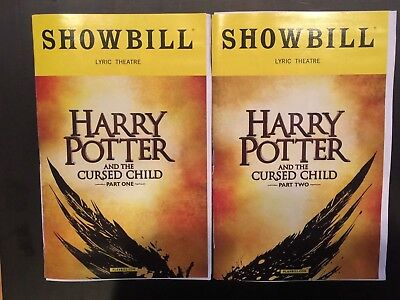 Harry Potter   The Cursed Child Official Broadway Showbills Part One   Part Two