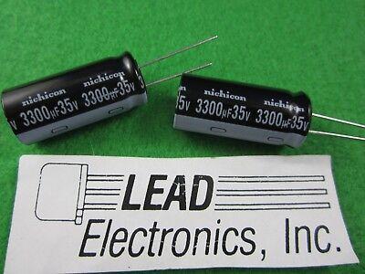 Qty2 3300uf 3300ufd35v Volt 105-deg Radial Nichicon Part Uvz1v332mhd