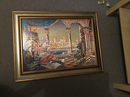 Framed jigsaw beautiful condition
