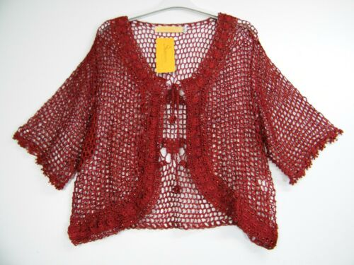 SPARKLY LACY SHRUG IN 6 COLS SIZES: M/L(12/14) L/XL(16/18 )