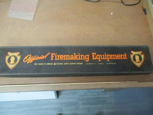 Vintage BSA Boy Scouts Official Firemaking Equipment in Original Box - used