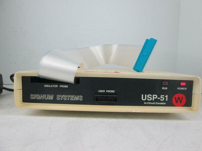 SIGNUM SYSTEMS USP-51 IN-CIRCUIT EMULATOR USP-51E W/ POWER SUPPLY UP3043K-3