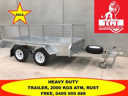 10x5 FULLY TANDEM HOT DIP GALVANISED TRAILER,2000 KG ATM