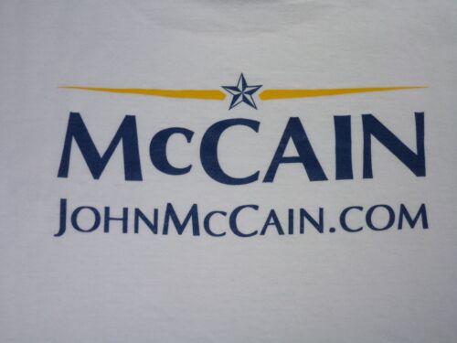 John McCain Campaign T Shirt Size XL - US Senate, Presidential Candidate