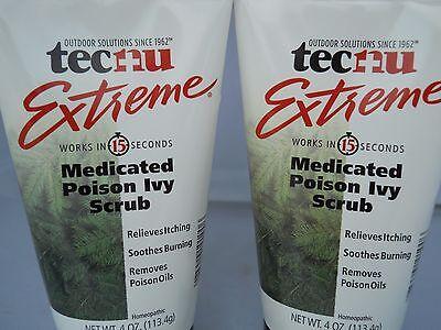 TECNU Extreme Medicated POISON IVY SCRUB 4oz Each (2pks) Fresh & New
