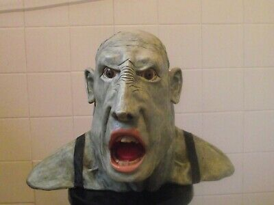 Steampunk mancave halloween party gym prop figure head