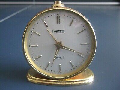 Vintage Swiss Looping Alarm Clock Working