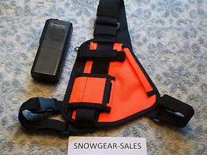 Hands-Free-Radio-Chest-Harness-for-Pro-UHF-Radios-HI-VIS-ORANGE-101-OR