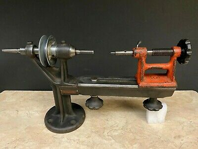 Antique Goodell Pratt Company Toolsmiths Jewelers Small Mini Lathe