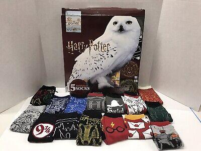 New Women's Harry Potter Owl 15 Days of Socks Advent Calendar Size 4-10