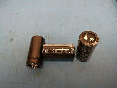 Lot Of 3 Pieces - 2200uf 100v Dc Radial Snap In Electrolytic Capacitor New