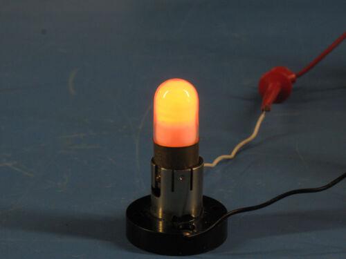 2pcs TAO-3-1 Coated Neon Bulb Lamp 15mm Base Single Pin Ne-2