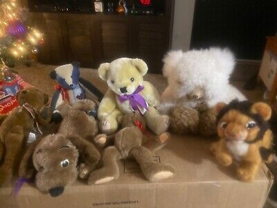 LOT OF 7 Vintage Tender Heart, & More animals Dolls! Must See!