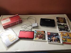 Like new 3ds xl with games,box,manual,charger,case!!