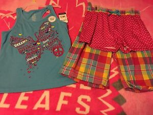 NWT 3 piece outfit for girls size LG 14