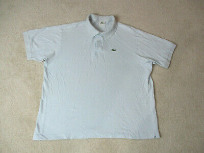 Lacoste Polo Shirt Adult Extra Large Size 8 Light Blue Green Crocodile Rugby *