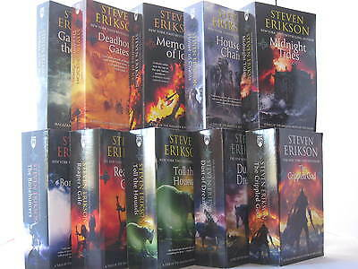 Malazan Book of the Fallen by Steven Erikson (Books 1-10 in the Series) NEW