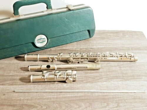 Vintage Bundy Silver Flute With Original Case