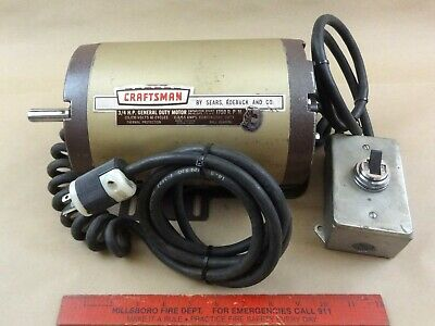 Excellent Craftsman 34 Hp 1750 Rpm 120v Ball Bearing Lathe Machine Motor