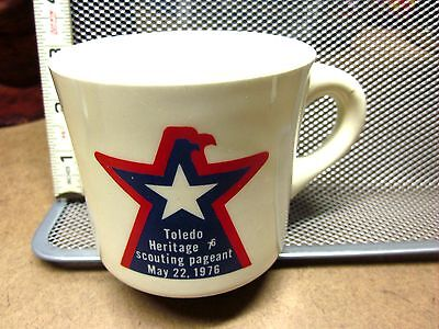 TOLEDO HERITAGE Scouting Pageant coffee mug OHIO eagle logo 1977 Boy Scouts BSA