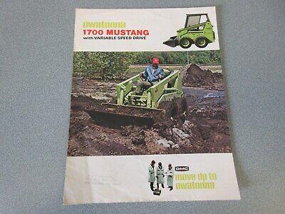Omc Mustang 1700 Skid Steer Loader Brochure