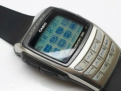 CASIO DATA BANK 2551 MEMORY 360 LCD CALCULATOR WRIST WATCH WORLD TIME JAPAN Memory World Time Watch