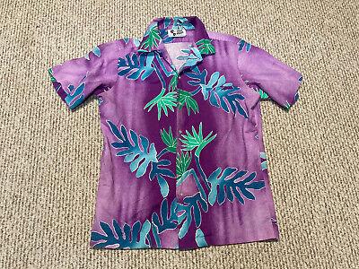 1970s Men's Shirt Styles – Vintage 70s Shirts for Guys Vintage Hawaiian Shirt Mens L Purple Floral Hilo Hattie 70s SS Button Front $29.99 AT vintagedancer.com