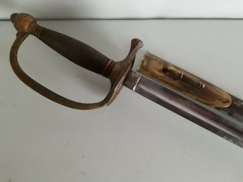 US Civil War Emerson & Silver Model 1840 NCO Sword w/Scabbard -1863
