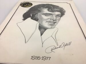 Vintage Elvis print Richard Axtell 1977 The King