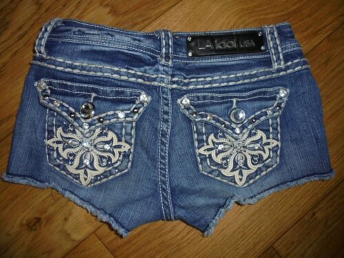 L.A, Idol Jean Shorts~Girls Size XS  25 x 2