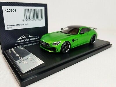 ALTAYA MERCEDES BENZ AMG GT-R COUPE C190 1//43 w// DISPLAY CASE LIGHT MAGNO GREEN