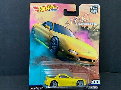 Hot Wheels Mazda RX7 1995 Yellow Street Tuners FPY86-956L 1/64