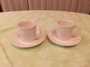 Mikasa English Countryside Espresso Cups and Saucers