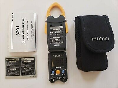 Hioki 3291 Digital Clamp On Hitester 3291 Slightly Used
