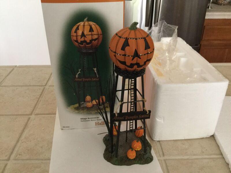 Dept 56 HALLOWEEN WATER TOWER Halloween Village 53223 Excellent