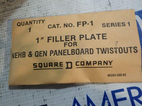 New old stock SQUARE D FP1 FP-1  Filler Plate for NEHB panelboards