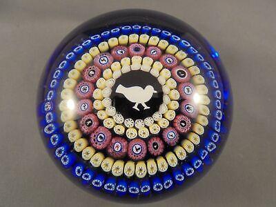Baccarat France Art Glass Gridel Pigeon Bird 1979 Paperweight