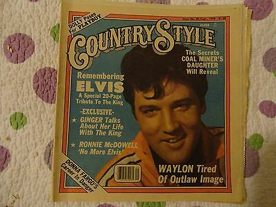 Country Style Newspaper Sept.1978  Elvis Presley Tribute-Dolly Poses for Playboy