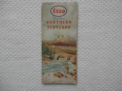 ESSO Road Map of NORTHERN SCOTLAND number 7 dated 1959-62 new old stock