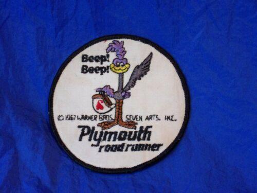 Vintage Plymouth Road Runner Beep Beep Warner Bros. Seven Arts Cloth Patch 1967