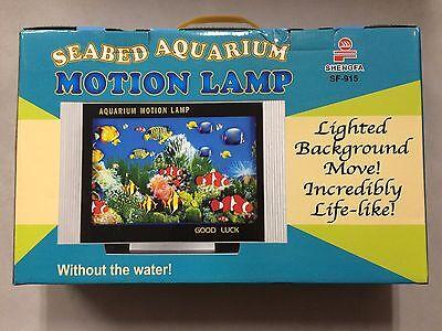 "Aquarium Motion Moving Lamp Night Light Rotating Seabed Ocean Colorful Fish 14"""