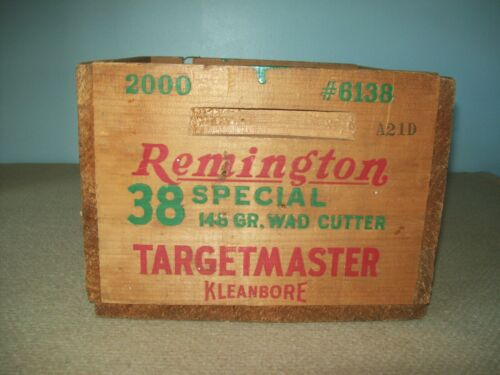 Vintage Remington 38 special Targetmaster wooden crate  box
