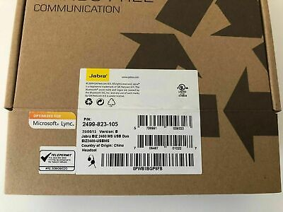 Jabra BiZ 2400 Duo MS Stereo Lync Optimized Computer USB Headset for Softphones for sale  Shipping to India