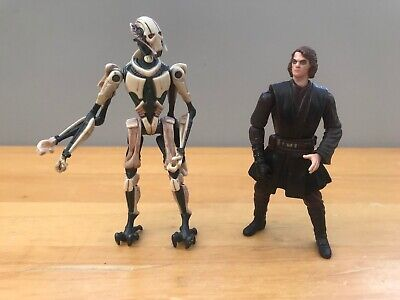 """Star wars action figures General Grievous and Anakin gone bad  (3.75"""")"""